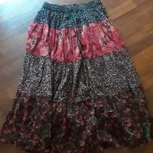 Gypsy maxi skirt